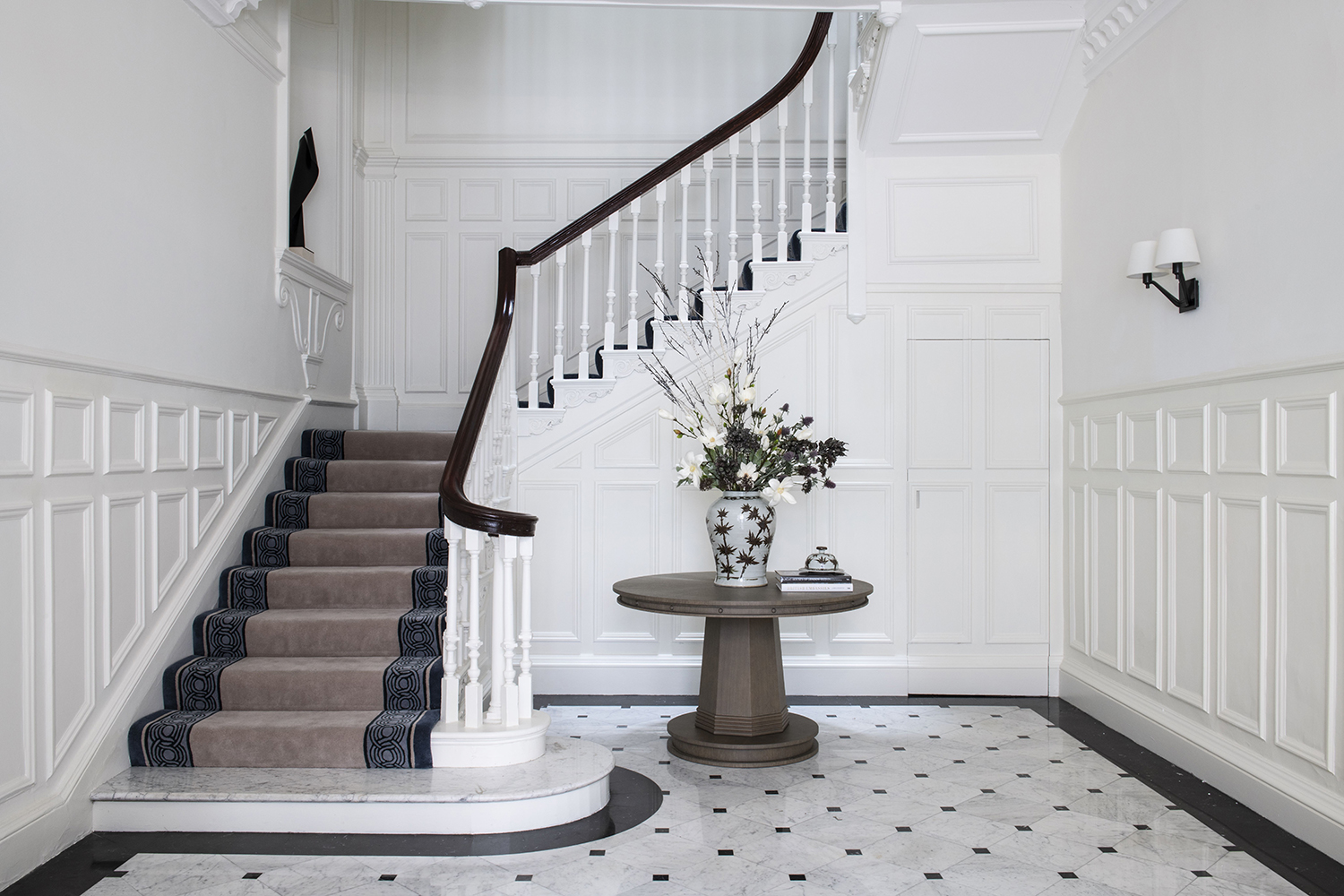 CUSTOM STAIR RUNNER_Interior Design by Schiller Beynon_Photography by Jody Stewart