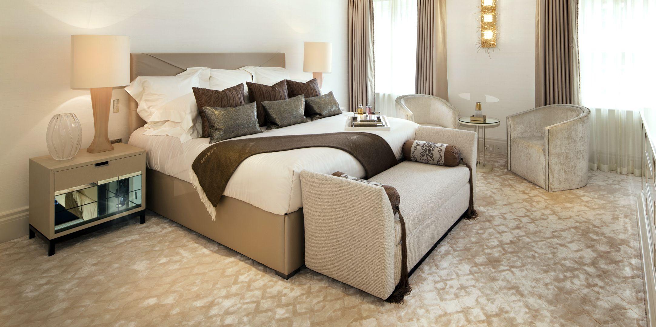 GUEST BEDROOM By Loomah Bespoke CArpets & Rugs